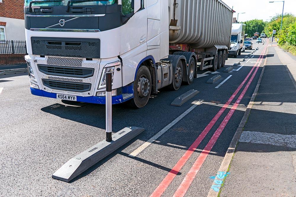 Narrow Cycle Lane Defenders installed in Oldbury