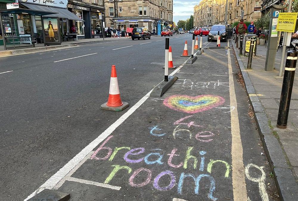 Narrow Cycle Lane Defenders installed in Edinburgh