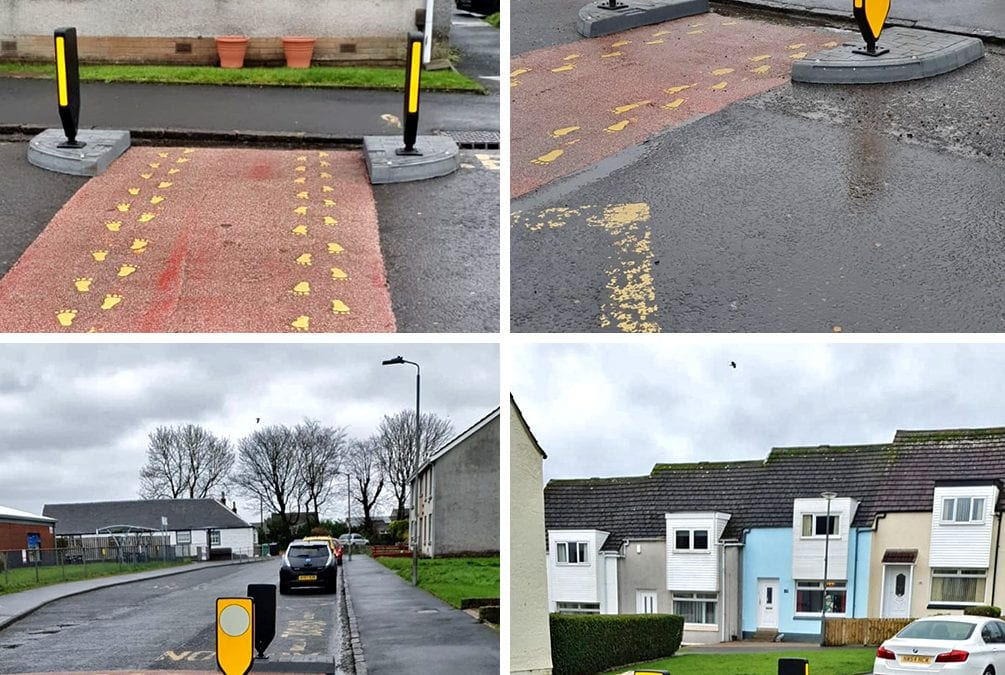 Traffic Island Pinch Points in Scotland