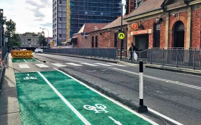 Narrow Cycle Lane Defenders Installed in Sydney, Australia