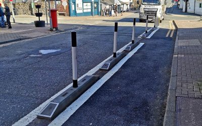 New Cycle Lane In Llangollen, North Wales