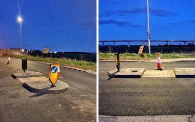 Traffic Islands Installed In Goole