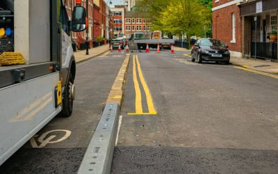 Cycle Lane Defenders In Leeds City Center