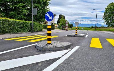 New Pedestrian Refuge Point In Switzerland