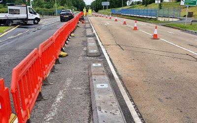 Lane Separators On Popley Way In Basingstoke