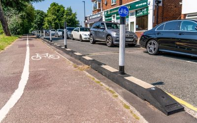 Cycle Lane Installed On The A110 In North London